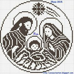Nativity scene filet crochet pattern , Schema uncinetto a filet : Presepe No halo Hama Beads Christmas, Christmas Cross, Beading Patterns, Embroidery Patterns, Crochet Patterns, Crochet Diagram, Crochet Chart, Cross Stitch Charts, Cross Stitch Patterns