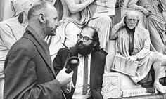 Ferlinghetti interviews Ginsberg outside the Albert Hall before the the International Poetry Incarna