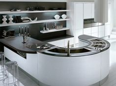 22 Outstanding Contemporary Kitchen Island Designs