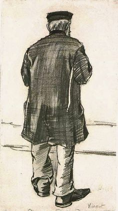 Orphan Man with Cap, Seen from the Back 1882 : Vincent van Gogh
