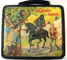 John Kenneth Muir's Reflections on Cult Movies and Classic TV: Go Ape Week: Planet of the Apes Lunchbox Vintage Lunch Boxes, Cool Lunch Boxes, Retro Toys, Vintage Toys, 1960s Toys, 1970s, Star Wars Lunch Box, Go Ape, Fiction Movies