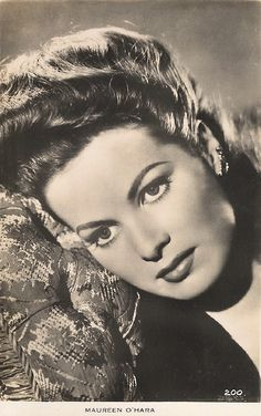 Maureen O'Hara was my icon! she was so gorgeous!