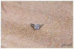 Chicago Engagement Photographer | Beach ring shot | Engagement Photography | Joanna Smith Photography | Chicago Weddings