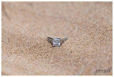 Chicago Engagement Photographer | Beach ring shot | Engagement Photography | Joanna Smith Photography | Chicago Weddings