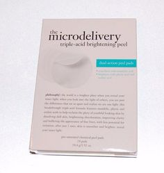 Philosophy MICRODELIVERY PEEL triple-acid brightening peel chemical 24 pads NEW #Philosophy #microdelivery
