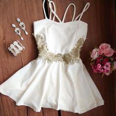 Fashion Sling white dress ERV86NS
