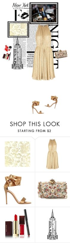 """Ad un evento"" by piccolauby ❤ liked on Polyvore featuring Nicki Minaj, Halston Heritage, Gianvito Rossi, Alexander McQueen, Chanel and Kevyn Aucoin"