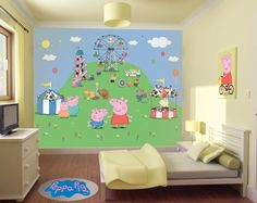 If you're minded to decorate a Peppa Pig themed bedroom for your child, you'll definitely want to have a look at this new product from Walltastic.