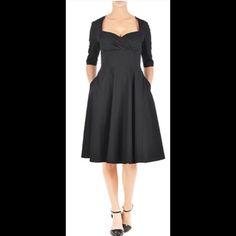 New Eshakti Black Fit & Flare Dress 16w