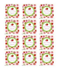 """free """"You're Berry Special"""" strawberry printable tags  {Dimple Prints}"""