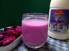 Ganesha Kefir Smoothie with Red Dragon Fruit #kefir #ganeshakefir #minumansehat #smoothie #kefirsmoothie #dairyproduct