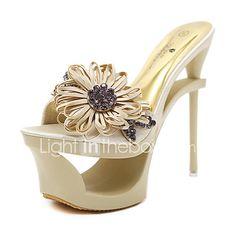 17a2ef587baa5 Femme Chaussures Similicuir Eté Automne Confort Nouveauté Bottes à la Mode  Botillons Sandales Pour Mariage Décontracté