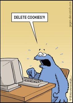 Delete Cookies?! by Miguel Fernandez @gegen-deb-strich.com via touchofmeh.com #Cartoon #Cookie_Monster #Miguel_Fernandez