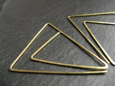 Large gold triangle hoops oversized geometric by minimalgeometric, $27.76