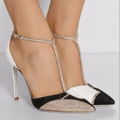 Jimmy Choo Crystal Embellished T-Strap Pumps | AmoLosZapatos
