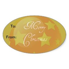 Ornament Christmas Tags Stickers