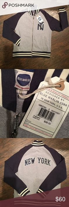 NWT. BLUE Marlin Varsity Size Small NWT Blue Marlin Jackets & Coats Bomber & Varsity