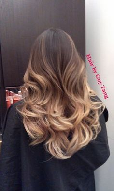 Hair by Guy Tang High Contrast Balayage Ombre Ombre Hair Color, Hair Colors, Blonde Ombre, Ash Ombre, Subtle Ombre, Blonde Curls, My Hairstyle, Pretty Hairstyles, Hair Day