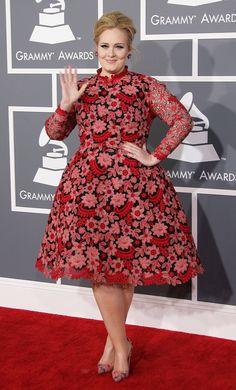2013 GRAMMY Awards: Best and Worst Dressed: Adele