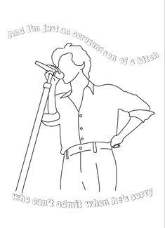 Harry Styles Drawing, Harry Styles Tattoos, Harry Styles Pictures, Style Lyrics, Song Lyrics Art, Outline Drawings, Art Drawings, Colouring Pages, Coloring Books
