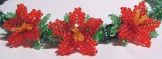 beaded flower jewelry - Trans. needed but pictures are clear. #seed #bead #tutorial