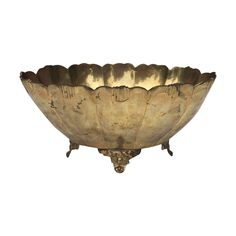 SOLD Vintage Brass Footed Bowl