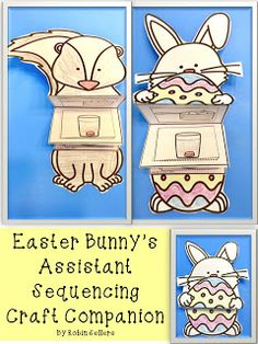Easter Bunny's Assistant Sequencing Craft for how to dye eggs
