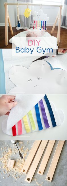 DIY Baby Gym Tutorial with Free Printable patterns http://www.CraftaholicsAnonymous.net