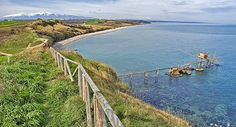Adriatic coast of Abruzzo. Punta-Aderci, town of Vasto