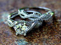 CUSTOM+Made++Diamond+Engagement+Ring+and+Wedding+by+BeautifulPetra,+$4,800.00