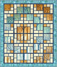 Looking for a different quilt pattern?  Why not try a stained glass quilt?