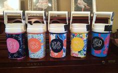 lilly/sorority jug painting!