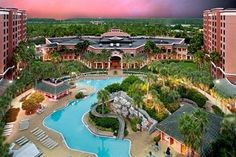 Caribe Royale Hotel Orlando swimming pool from above WOW!