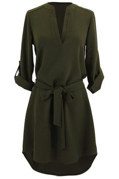 Cupshe Pure Desire Tunic Shirt Dress