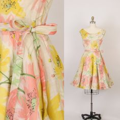 1950's garden party dress by SepiaVintage on Etsy, $118.00