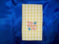 Mother's day kitchen towel by customembroidery on Etsy