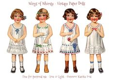 I'm working on some Vintage Paper Doll Angels for Christmas, and I figured I'd share some of the printables even though the project is still not complete: I figured little paper dolls in their unde...