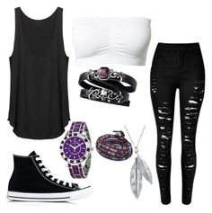"""""""Untitled #1266"""" by laurenwolfchild ❤ liked on Polyvore featuring Converse, Nina B, Christian Dior and BillyTheTree"""
