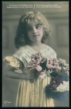 Alluring Edwardian Child Girl GRETE REINWALD original old 1910s photo postcard in Collectibles | eBay