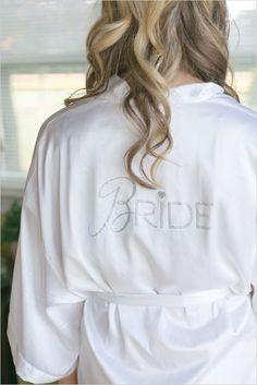 special bridal robe to get ready in #bride #bachelorettegift #weddingchicks http://www.weddingchicks.com/2014/03/28/pink-wedding/