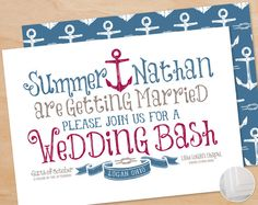 Modern Wedding Invitation Package  Nautical Theme by BlissCo, $3.00