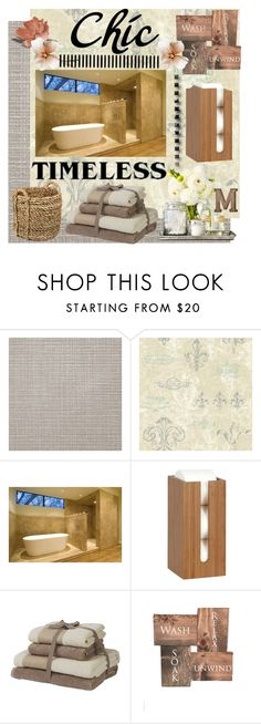 """""""Chic"""" by summer-marin ❤ liked on Polyvore featuring interior, interiors, interior design, home, home decor, interior decorating, York Wallcoverings, .wireworks and Pier 1 Imports"""