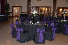 should i get chair covers for my wedding rent lift plum wil really pop against white table cloths and napkins light lavender ...