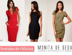 Monita de Seda: Tips para Vestidos de Oficina Casual Looks, Peplum Dress, Dresses For Work, My Style, Hair Styles, Outfits, Clothes, Fashion, Sew