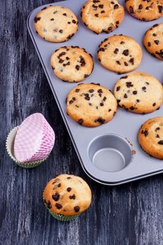 Delicious, fluffy, gluten free muffins with Greek yogurt and chocolate chips and the wonderful flavor of bananas.
