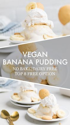 Vegan Banana Pudding - Make It Dairy Free We've taken a classic dessert and transformed it into a delicious cupcake. These Banana Pudding Cupcakes with Nilla Wafers and Whipped Cream Frosting are so yummy and so easy to make! Healthy Banana Pudding, Banana Pudding Cupcakes, Homemade Vanilla Pudding, No Bake Banana Pudding, Banana Pudding Recipes, Vegan Dessert Recipes, Vegan Sweets, Egg Free Desserts, Cookie Recipes