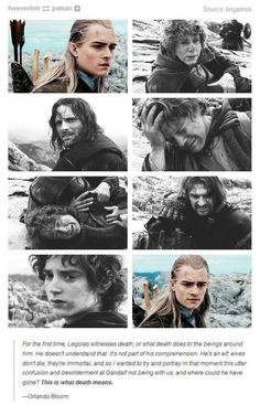 This scene literally breaks me every time and how boromir holds frodo back reminds me of Remus holding back Harry in OotP in the department of mysteries.
