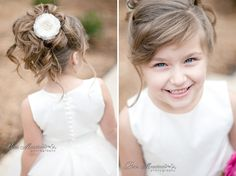 Adorable flower girl - Styled Photo Shoot with Paris Mountain Photography