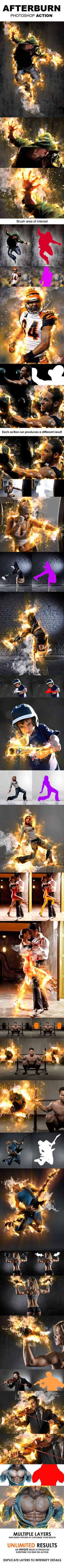 AfterBurn Photoshop Action - create spectacular fire effects