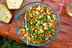 Recipe: Haricots Verts, Corn and Carrot Salad by Melissa Clark | Photo: Andrew Scrivani for The New York Times